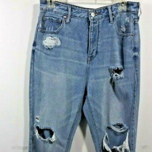 PacSun Mom Jeans 29 Blue Cropped Light Wash Women